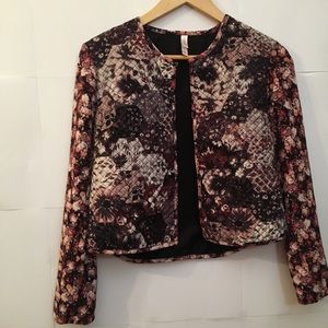 Floral Quilted Blazer
